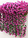 2 Une succursale Soie Violet Guirlande et Fleur Murale Fleurs artificielles 80CM
