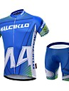 MALCIKLO® Maillot et Cuissard de Cyclisme Homme Manches courtes VeloRespirable / Sechage rapide / Zip frontal / Vestimentaire / Haute