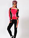 MYSENLAN® Maillot et Cuissard Long de Cyclisme Femme Manches longues VeloRespirable / Garder au chaud / Sechage rapide / Resistant aux
