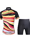 PALADIN® Cykeltröja med shorts Dam Kort ärm CykelAndningsfunktion / Snabb tork / Ultraviolet Resistant / Back Pocket / Minskar skavsår /