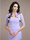 Wedding  Wraps Shrugs Half-Sleeve Satin Lilac Wedding / Party/Evening V-neck Beading / Bow Open Front