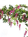 1 Gren Silke Violett Väggblomma Konstgjorda blommor 200CM