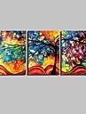 Botanisk Canvastryck Tre paneler Redo att hänga , Vertikal