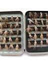 """40pcs pcs Mouches Fuchsia 1 g/1/18 Once,15 mm/<1"""" pouce,Plastique / Acier de charbon Peche en mer / Peche a la mouche / Peche generale"""