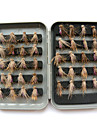 "40 st Flugor Fuchsia 1 g/1/18 Uns,15 mm/<1"" tum,Plast Kolstål Sjöfiske Flugfiske Generellt fiske"