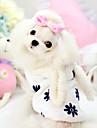 Câine Hanorace cu Glugă Îmbrăcăminte Câini Cosplay Keep Warm Desene Animate Alb Roz