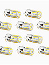 4W G4 LED a Double Broches T 57 SMD 3014 300-450 lm Blanc Chaud / Blanc Froid / Blanc Naturel Decorative / Etanches DC 12 V 10 pieces