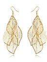 Franjuri La modă Bohemia Stil Aliaj Leaf Shape Auriu Bijuterii Pentru Zilnic Casual 1 pereche