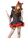 Costumes de Cosplay / Costume de Soiree Ange et Diable / Zombie / Vampire Fete / Celebration Deguisement Halloween Rouge / Noir Vintage