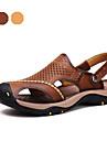 herrskor utomhus / atletisk / tillfälliga nappa lädersandals brun / khaki