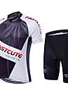 Fastcute® Maillot et Cuissard de Cyclisme Homme / Unisexe Manches courtes VeloRespirable / Sechage rapide / Zip frontal / Vestimentaire /
