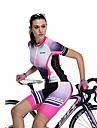 SANTIC Maillot et Cuissard de Cyclisme Femme Manches courtes Velo Cuissard  / Short Maillot Ensemble de VetementsSechage rapide