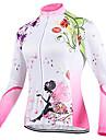 Sportif Maillot de Cyclisme Femme Manches longues Velo Respirable / Zip frontal / Vestimentaire / Tissu Ultra Leger Hauts/TopsTerylene /