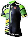 KEIYUEM® Maillot de Cyclisme Unisexe Manches courtes VeloRespirable / Sechage rapide / Resistant aux ultraviolets / Zip frontal /