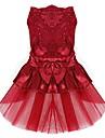 Chien Robe Vetements pour Chien Ete Printemps/Automne Noeud papillon Mignon Mariage Anniversaire Rouge Bleu Rose Dore
