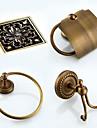 Badrumstillbehörsset / Handdukshängare / Toalettpappershållare / Badrockskrok / Dränering / Handduksvärmare / Antik brons / Väggmonterad /