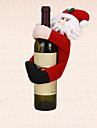 tableau 1pc decoration de Noel le pere noel porte couvercle de la bouteille de vin de serviette de decoration parti