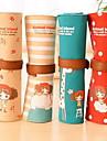 lockigt söta flickor Lärande pappers stor kapacitet duk pennfodral (slumpvis färg)