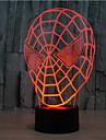 Spider-Man beröring dimmer 3d ledde nattlampa 7colorful dekoration atmosfär lampa nyhet belysning jul ljus