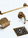 Badrumstillbehörsset / Handduksstång / Toalettpappershållare / Badrockskrok / Dränering / Handduksvärmare / Antik brons / Väggmonterad /