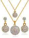 Bijuterii Coliere / Σκουλαρίκια Seturi de bijuterii de mireasă Nuntă 1set Dame Auriu Cadouri de nunta
