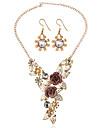 Bijuterii Coliere / Σκουλαρίκια Seturi de bijuterii de mireasă Nuntă / Petrecere 1set Dame Auriu Cadouri de nunta