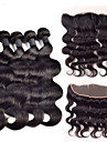 Trame cheveux avec fermeture Cheveux Bresiliens Ondulation naturelle 4 Pieces tissages de cheveux