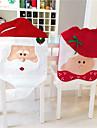 1 par jul stolsöverdrag jultomten nytt år dekorationer xmas ornament heminredning hattar glad försäljning