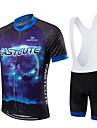 Fastcute® Cykeltröja med Haklapp-shorts Dam Herr Barns Unisex Kort ärm CykelAndningsfunktion Snabb tork Fuktgenomtränglighet 3D Tablett