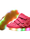 Fille-Decontracte Sport-Bleu Rose Rouge Blanc-Talon Plat-Confort Light Up Chaussures-Baskets-Similicuir