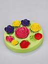 Melange a base de silicone moules moules a base de fleurs moules a gateau fondant pour savon chocolat couleur aleatoire