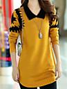 Femei Casual / Plus Size Pijamale Manșon Lung Plover Tricotaje Mediu