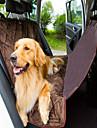 Câine Husă Scaune Mașină Animale de Companie  Rogojini & Pernuțe Impermeabil Pliabil Maro Pluș