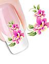 förförisk blommor spik diy konstklistermärkear vattenöverföringar dekaler nagel konst sticker spets dekal manikyr