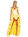 Costumes de Cosplay Princesse Fete / Celebration Deguisement d\'Halloween Jaune dore Couleur Pleine Robe Plus d\'accessoires Halloween