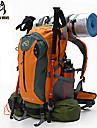 40 L ryggsäck / Ryggsäck Camping / Resa Utomhus / Prestanda Snabb tork / Stötsäker / Bärbar / Multifunktionell Mörkrosa Nylon / Polyester
