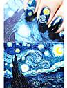1 Autocollant d\'art de clou Feuille de bandes de denudage Bande dessinee Maquillage cosmetique Nail Art Design