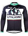 PALADIN® Maillot de Cyclisme Homme Manches longues VeloRespirable Sechage rapide Resistant aux ultraviolets Compression Materiaux Legers