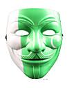 Pour Halloween / Bal Masque Ange et Diable Fete / Celebration Deguisement Halloween Blanc / Noir / Vert / Jaune Mosaique / Imprime Masque