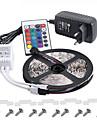 ip65 5m 300 3528 lumiere souple lampes de decoration bande de partie de bande rgb conduit DC12V adaptateur 3a ir telecommande
