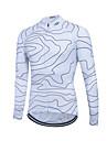 fastcute Maillot de Cyclisme Femme Homme Unisexe Manches longues Velo Shirt Maillot Hauts/TopsSechage rapide Zip frontal Respirable Doux