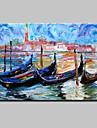 Pictat manual Abstract / Peisaje Abstracte Picturi de ulei,Modern Un Panou Canava Hang-pictate pictură în ulei For Pagina de decorare
