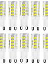 10pcs g9 51smd 2835 400-500lm cald alb / alb decorativ / impermeabil ac220-240v led bi-pin lumini