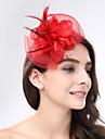 Women\'s Feather / Net Headpiece-Wedding / Special Occasion Fascinators 1 Piece