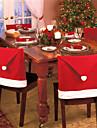 4st mode jultomten mössa Red Hat möbler stol bakstycket julbord party jul nytt år dekoration