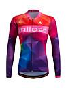 Sportif Maillot de Cyclisme Femme Manches longues VeloRespirable / Garder au chaud / Sechage rapide / Zip frontal / Zipper YKK /