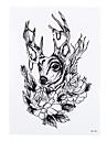 1 Tatouages Autocollants Series animales Non Toxic / Motif / Bas du Dos / WaterproofHomme / Femme / Adulte flash TattooTatouages