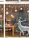 sticlă fereastră de film autocolante sticlă colorat flori vesel fereastră Crăciun