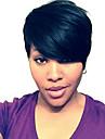 perruques crepus droites courtes humains de cheveux pour femme noire
