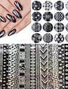 16 Autocollant d\'art de clou polonais Stamping Feuille de bandes de denudage Maquillage cosmetique Nail Art Design